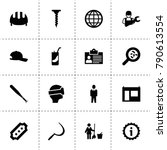 pictogram icons. vector... | Shutterstock .eps vector #790613554