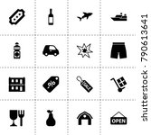 label icons. vector collection... | Shutterstock .eps vector #790613641