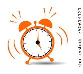 alarm clock. vector illustration | Shutterstock .eps vector #790614121