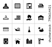 house icons. vector collection... | Shutterstock .eps vector #790614421