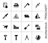 tool icons. vector collection...