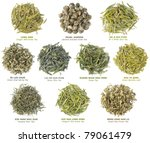 Isolated Tea Piles. Collection...