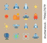 icon set about universe. with... | Shutterstock .eps vector #790617079