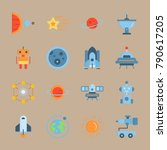icon set about universe. with... | Shutterstock .eps vector #790617205