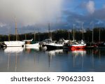 sailing ships anchored at the... | Shutterstock . vector #790623031