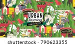 urban farming  gardening or... | Shutterstock .eps vector #790623355