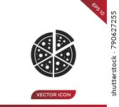 pizza icon vector | Shutterstock .eps vector #790627255