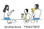 vector illustration group of... | Shutterstock .eps vector #790627855