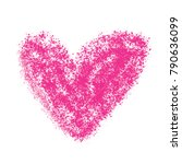 painted heart simple vector... | Shutterstock .eps vector #790636099