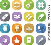 flat vector icon set   hex... | Shutterstock .eps vector #790637779
