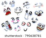 set with internet faces  memes... | Shutterstock .eps vector #790638781