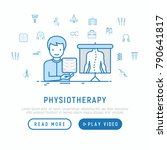 physiotherapy concept with thin ... | Shutterstock .eps vector #790641817