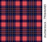 symmetric checkered print.... | Shutterstock .eps vector #790646485