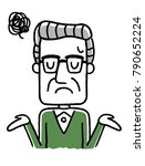 senior male  troubled ... | Shutterstock .eps vector #790652224
