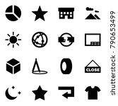 origami style icon set  ... | Shutterstock .eps vector #790653499
