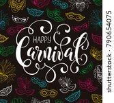 festive masqeurade party... | Shutterstock .eps vector #790654075