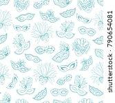 venetian carnival seamless...   Shutterstock .eps vector #790654081