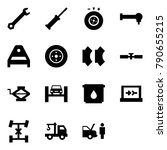 origami style icon set   wrench ...   Shutterstock .eps vector #790655215