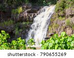 scenic view of the waimea falls ...