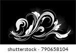 Stylized Flower Pattern  White...
