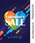 valentine's day sale background.... | Shutterstock .eps vector #790659259