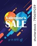 valentine's day sale background.... | Shutterstock .eps vector #790659259