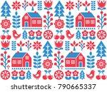 nordic  scandinavian inspired... | Shutterstock .eps vector #790665337