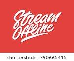 stream offline. premium... | Shutterstock .eps vector #790665415