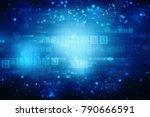 digital abstract technology... | Shutterstock . vector #790666591