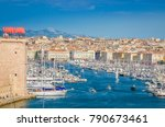 aerial view of  old vieux port... | Shutterstock . vector #790673461
