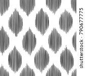 ikat seamless pattern for home... | Shutterstock .eps vector #790677775