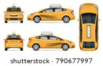 taxi cab vector mock up for... | Shutterstock .eps vector #790677997