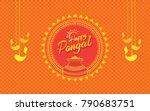 happy pongal background design  ...   Shutterstock .eps vector #790683751