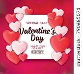 valentines day sale background... | Shutterstock .eps vector #790685071