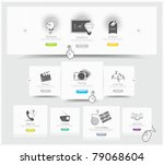 web design carousel elements... | Shutterstock .eps vector #79068604