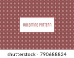 vector hearts and flowers... | Shutterstock .eps vector #790688824