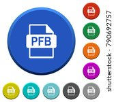 pfb file format round color... | Shutterstock .eps vector #790692757