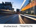 light trail in dublin | Shutterstock . vector #790695274