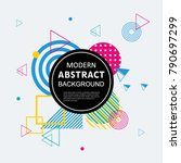 modern abstract circle... | Shutterstock .eps vector #790697299