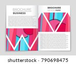 abstract vector layout... | Shutterstock .eps vector #790698475