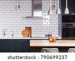 modern interior. spacious ... | Shutterstock . vector #790699237