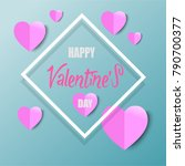 vector valentines day with... | Shutterstock .eps vector #790700377