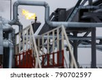 torch. oil production in... | Shutterstock . vector #790702597