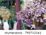 foreground of dry flower in jar ...   Shutterstock . vector #790712161