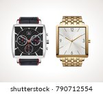 set of classic and modern mens... | Shutterstock .eps vector #790712554