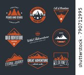 mountain logotypes with hill... | Shutterstock .eps vector #790712995