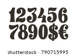 numbers lettering set. vector... | Shutterstock .eps vector #790715995