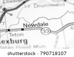 Newdale. Idaho. USA on a map.
