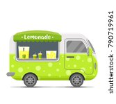 fresh cold lemonade street food ... | Shutterstock .eps vector #790719961