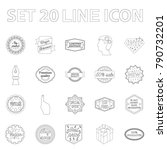 different label outline icons...   Shutterstock .eps vector #790732201